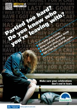 The Posters Will Be Put Up On The Backs Of Toilet Doors In Pubs Bars And Clubs In Battersea Putney And Tooting